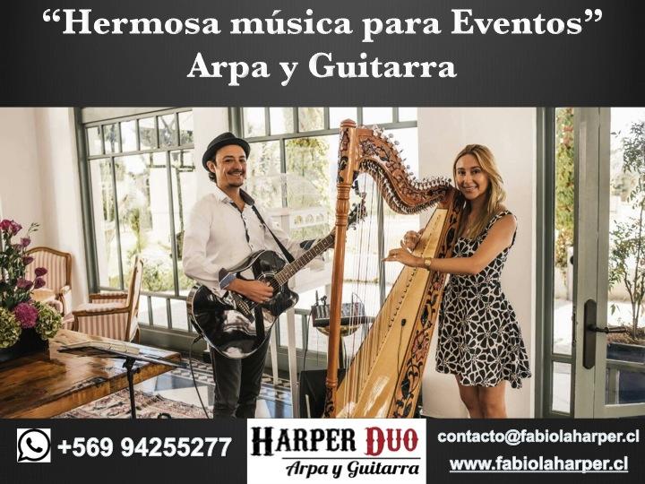 PROMOCION EVENTOS HARPER DUO ARPA Y GUITARRA