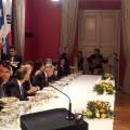 Tocando para el Presidente de China y Chile (6)